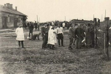 Канцлагер у Віцебску. 1941 г. / Концлагерь в Витебске. 1941 г. / A concentration POW camp in Vitebsk. 1941