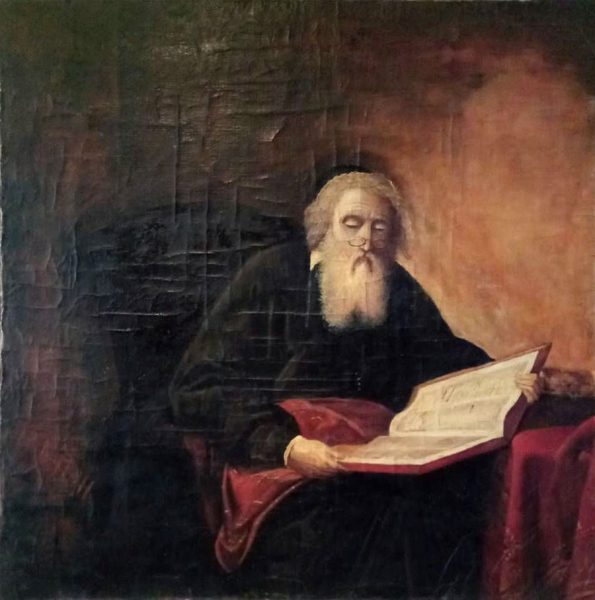 "Yehuda Pen painting ""Rabbi"", 1905. Photo by ay.by"